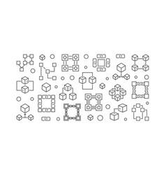 Block chain technology banner blockchain vector
