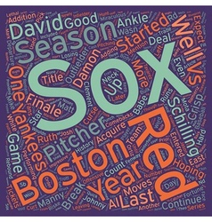 Boston red sox preview text background wordcloud vector