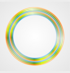 Bright circle logo background vector image vector image
