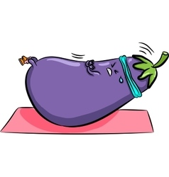 Bright eggplant shakes press vector