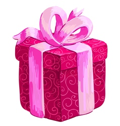 christmas gift vector image
