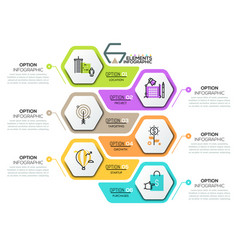 creative infographic design template with 6 vector image vector image