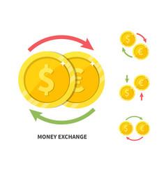 currency exchange symbol flat vector image