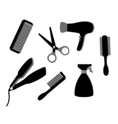 devices for hair care vector image