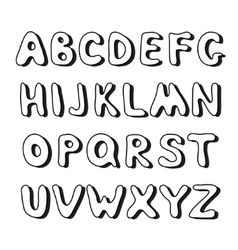 Doodle hand drawn alphabet vector image vector image