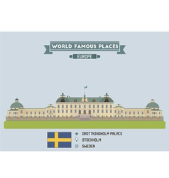 Drottingholm Palace vector image