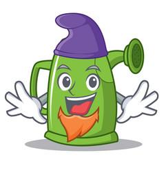 Elf watering can character cartoon vector