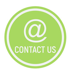 Email address flat icon contact us and website vector