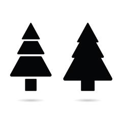 Fir tree silhouette vector