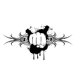 Fist and patterns vector
