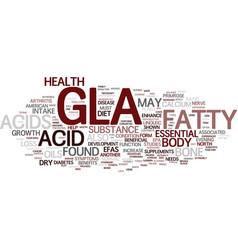 Gla text background word cloud concept vector