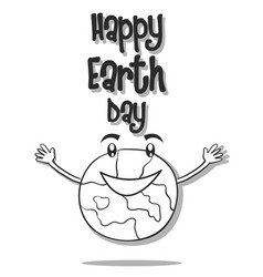 hand draw world for earth day vector image