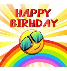 Happy birthday template vector