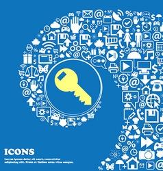 Key sign icon unlock tool symbol nice set of vector