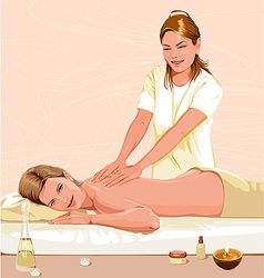 Massage vector image