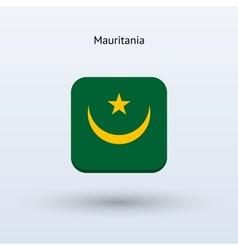 Mauritania flag icon vector
