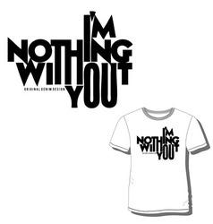 Men t shirt print vector