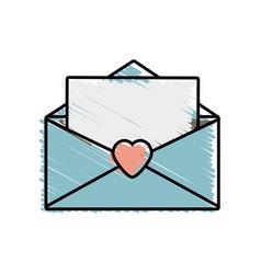 message mail romantic letter vector image