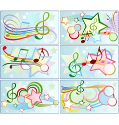 musical backgrounds vector image