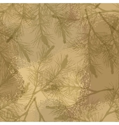 Pine branch seamless pattern camouflage sand vector