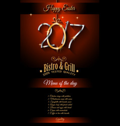 Restaurant meny template for 2017 easter vector