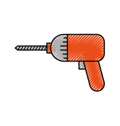 screwdriver drill symbol of the assembly or repair vector image