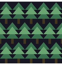 Seamless pattern with green fir-tree vector