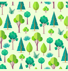seamless pattern with trees and bushes vector image