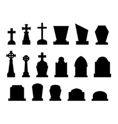 set of tombstones with different forms vector image vector image
