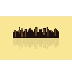 Silhouette of buildings and reflection vector image vector image