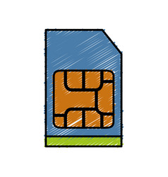 sim card icon vector image