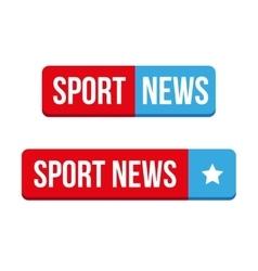 Sport news button vector