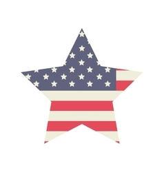 Star of usa flag design vector