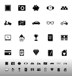 The useful collection icons on white background vector image
