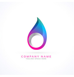 Vibrant drop logo concept vector