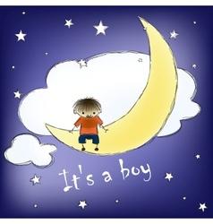 its a boy card vector image