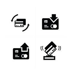 credit card with arrow icon vector image