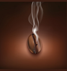 Coffee bean smoke background poster vector