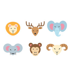 set of animal icon vector image