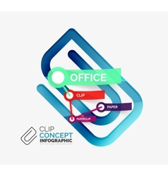 Office clip infographic concept vector