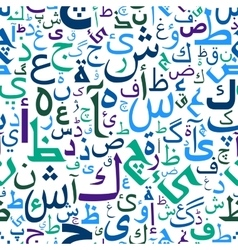 Abstract seamless arabic letters pattern vector