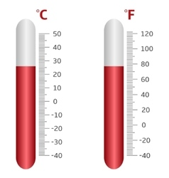Thermometer icons vector