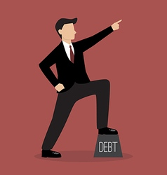 Businessman pointing up vector