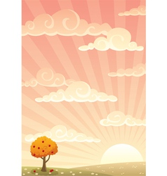 meadow autumn vector image