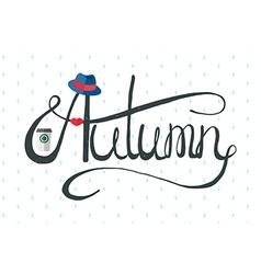 Autumn hipster lady banner vector