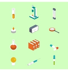 Icon isometric style medical symbol collections vector