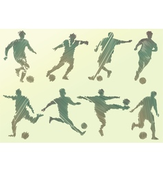 Abstract soccer players vector