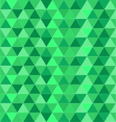 Green geometrical-triangle vector