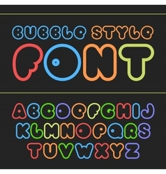 Colorful cartoon font cute alphabet vector