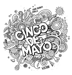 Cinco de mayo cartoon hand drawn doodle vector